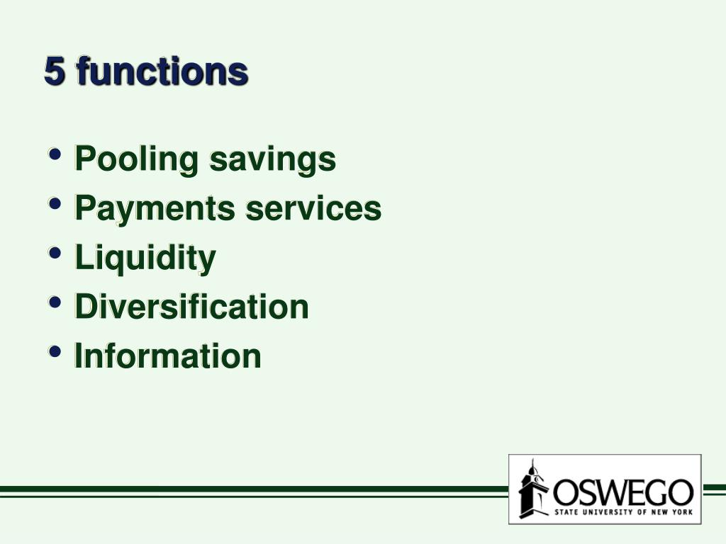 5 functions