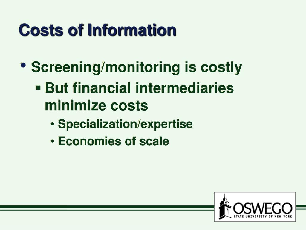 Costs of Information