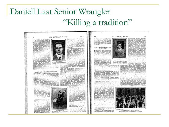 Daniell Last Senior Wrangler