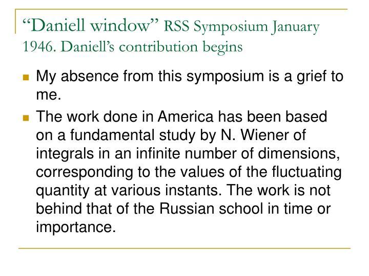 """Daniell window"""