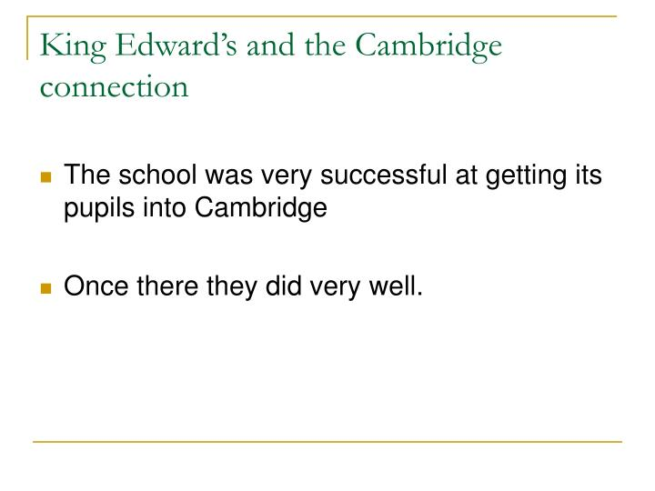 King Edward's and the Cambridge connection