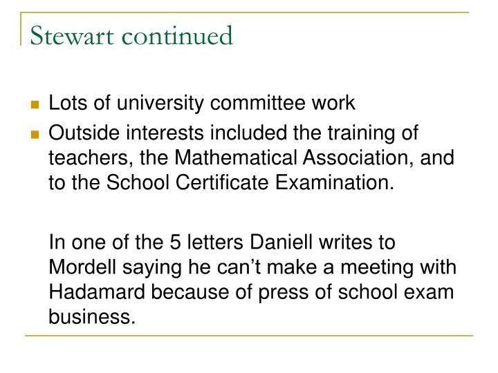 Stewart continued