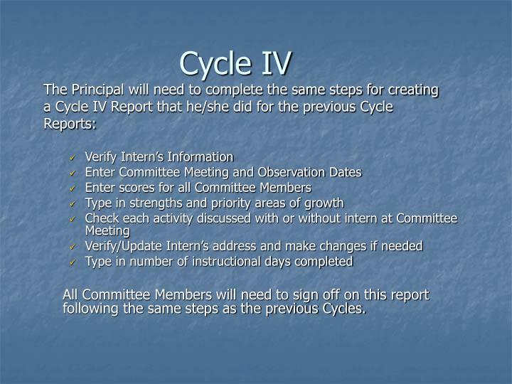 Cycle IV