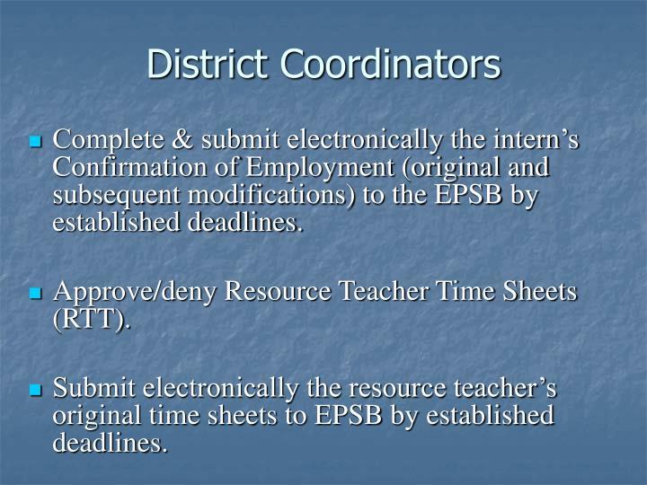 District Coordinators