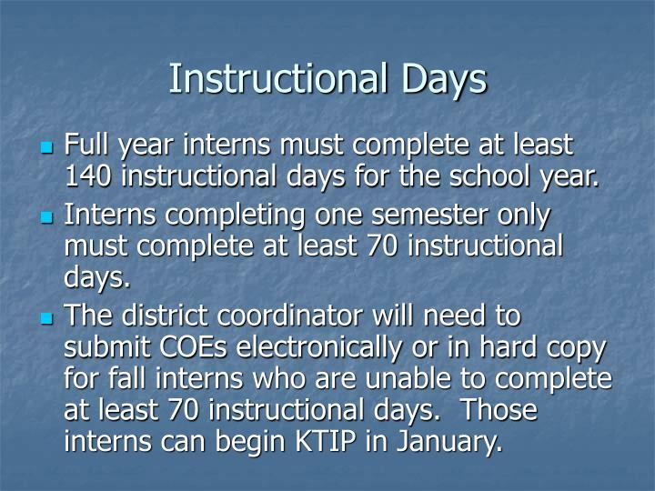 Instructional Days