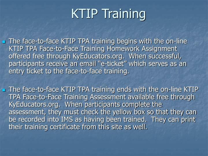 KTIP Training