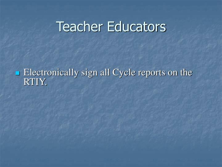 Teacher Educators
