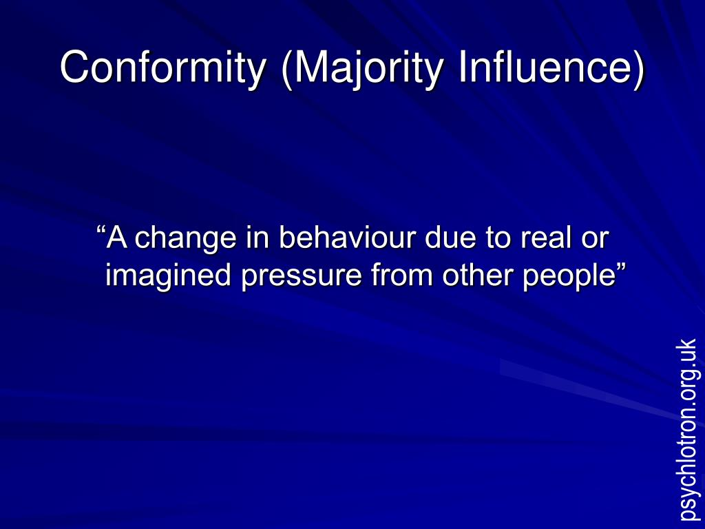 Conformity (Majority Influence)