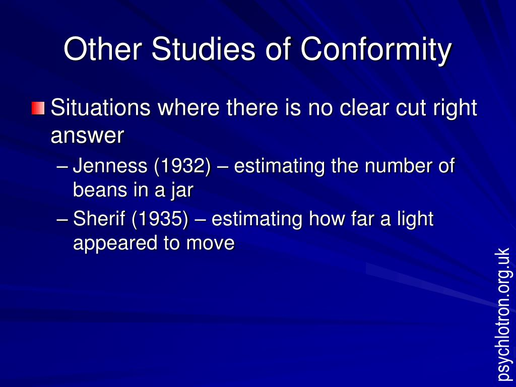 Other Studies of Conformity