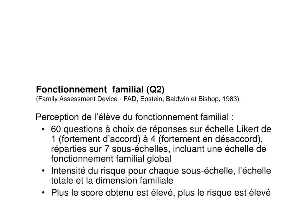 Fonctionnement  familial (Q2)