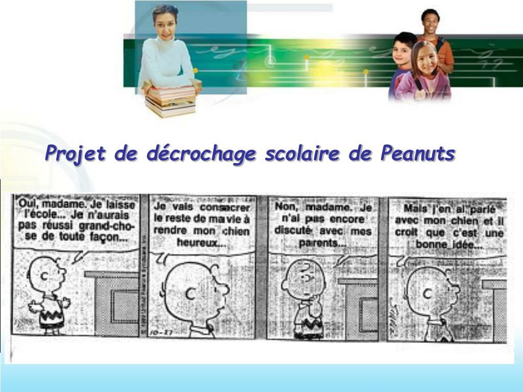 Projet de décrochage scolaire de Peanuts