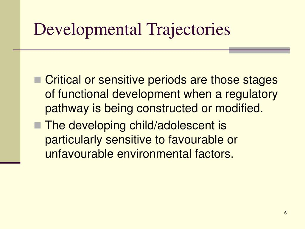 Developmental Trajectories