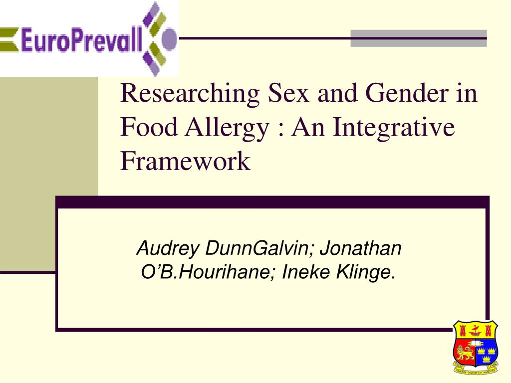 Researching Sex and Gender in Food Allergy : An Integrative Framework