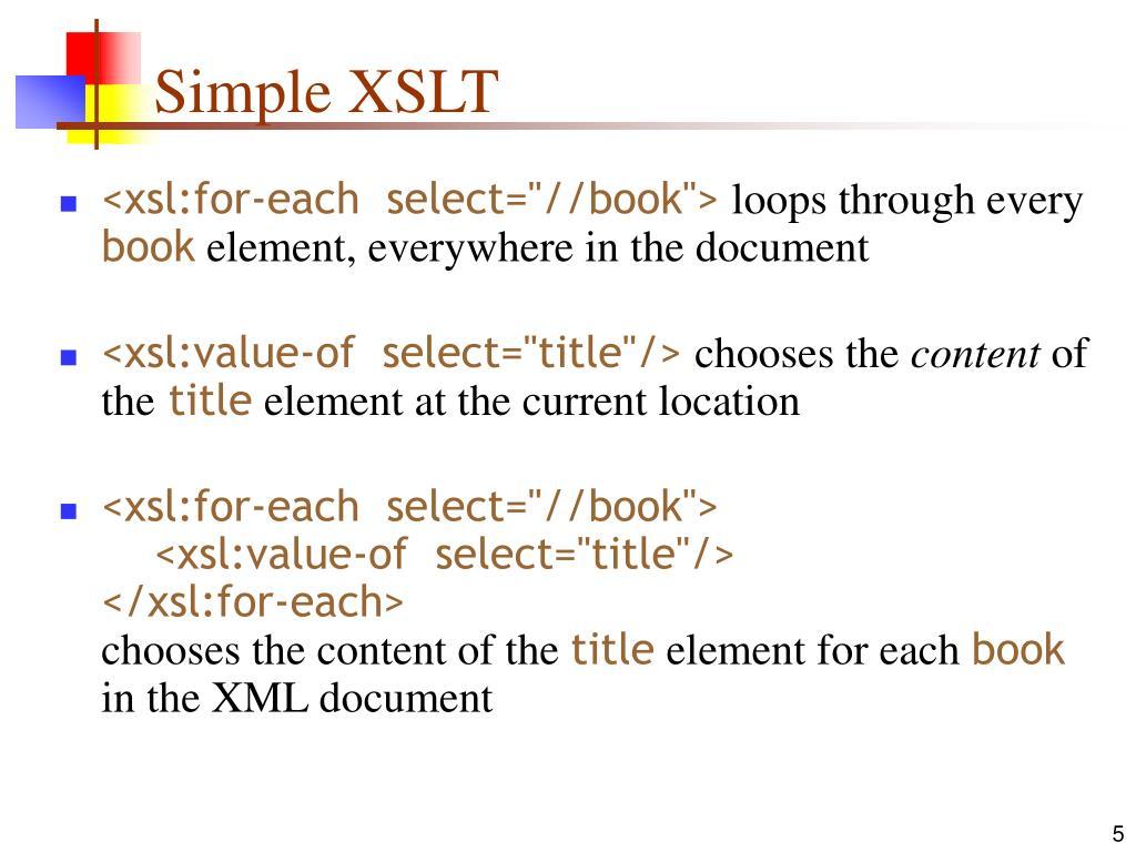 Simple XSLT