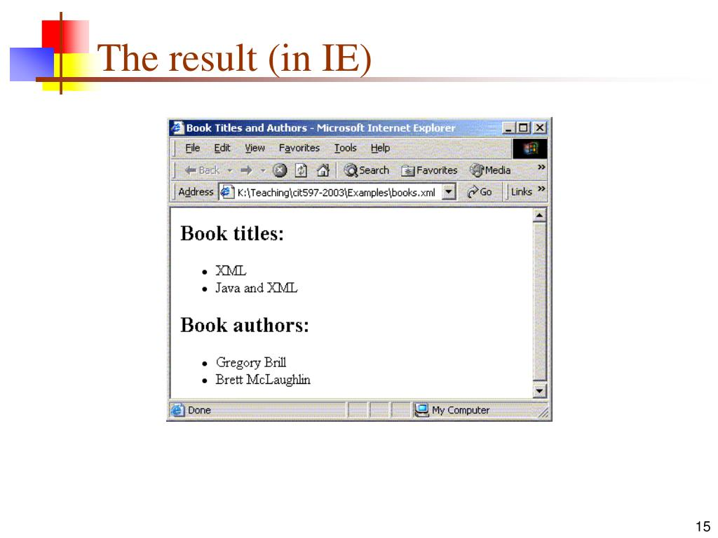 The result (in IE)