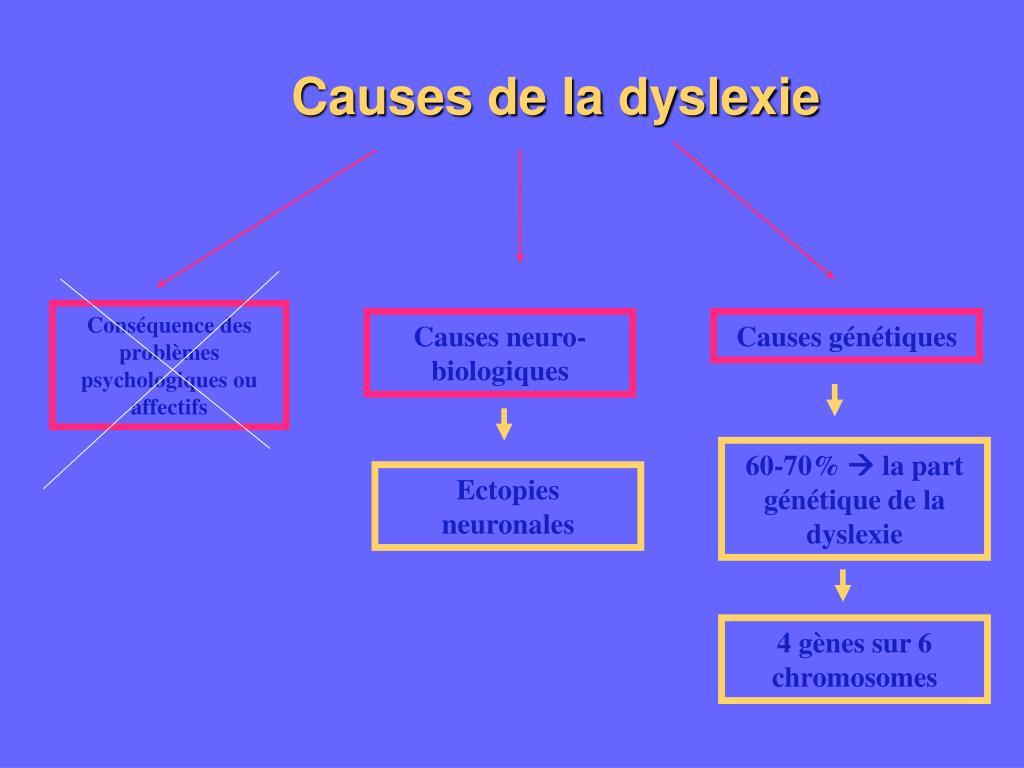 Causes de la dyslexie