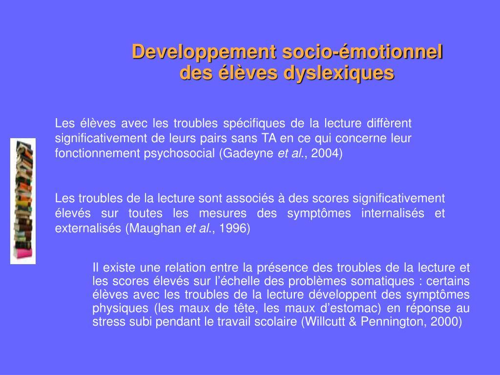 Developpement socio-émotionnel