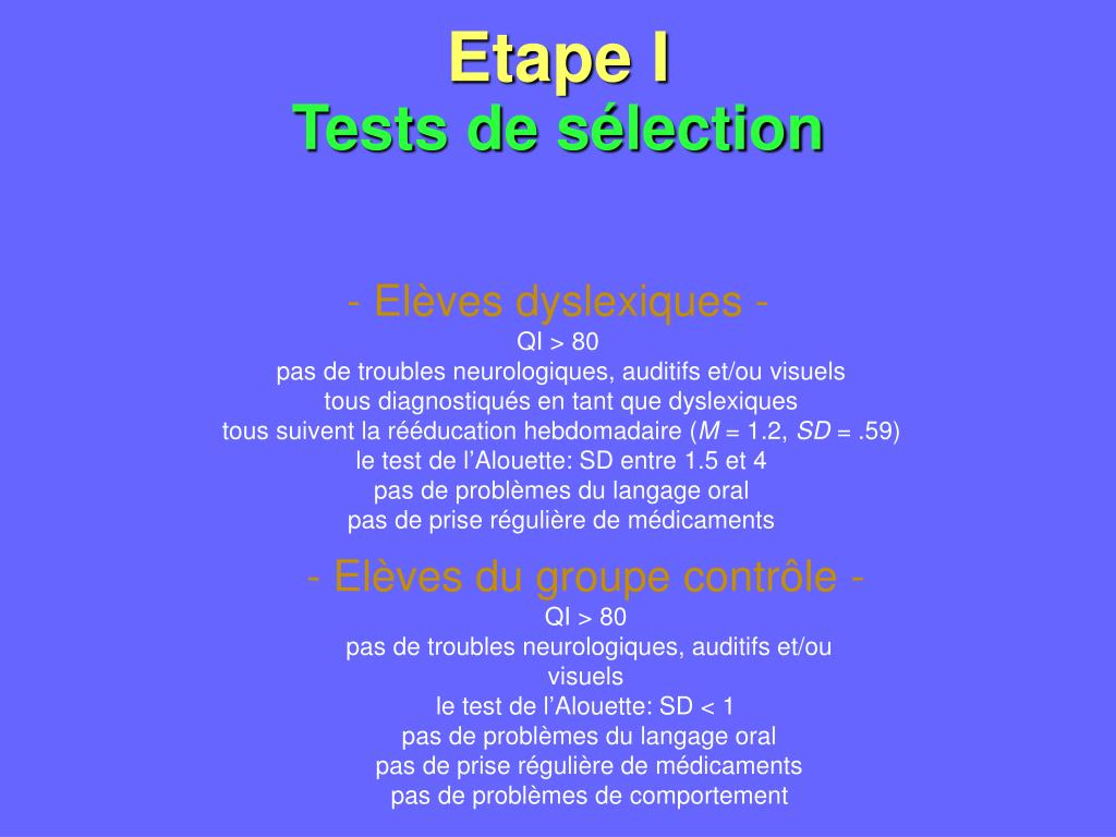 Etape I
