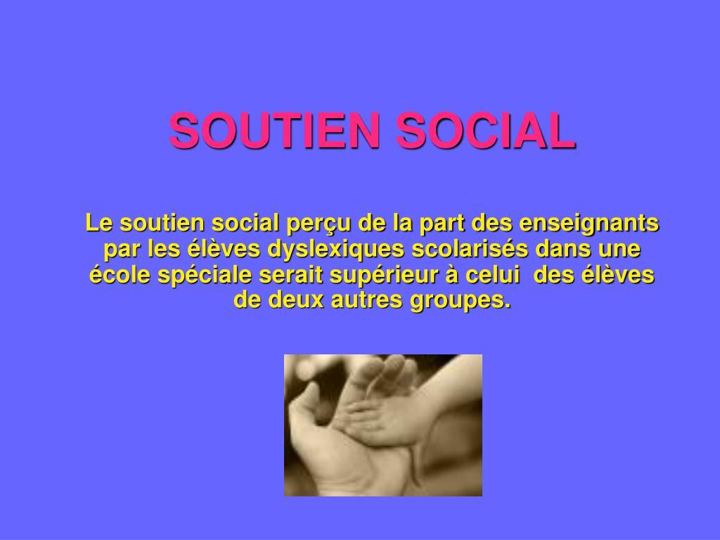 SOUTIEN SOCIAL