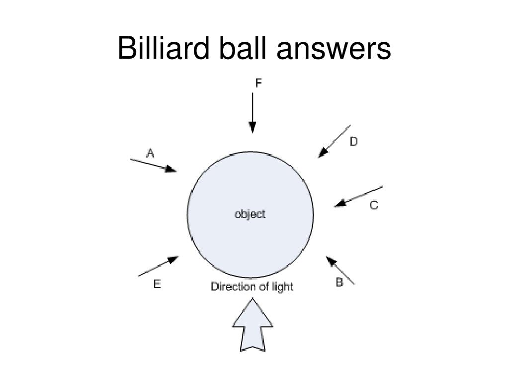 Billiard ball answers
