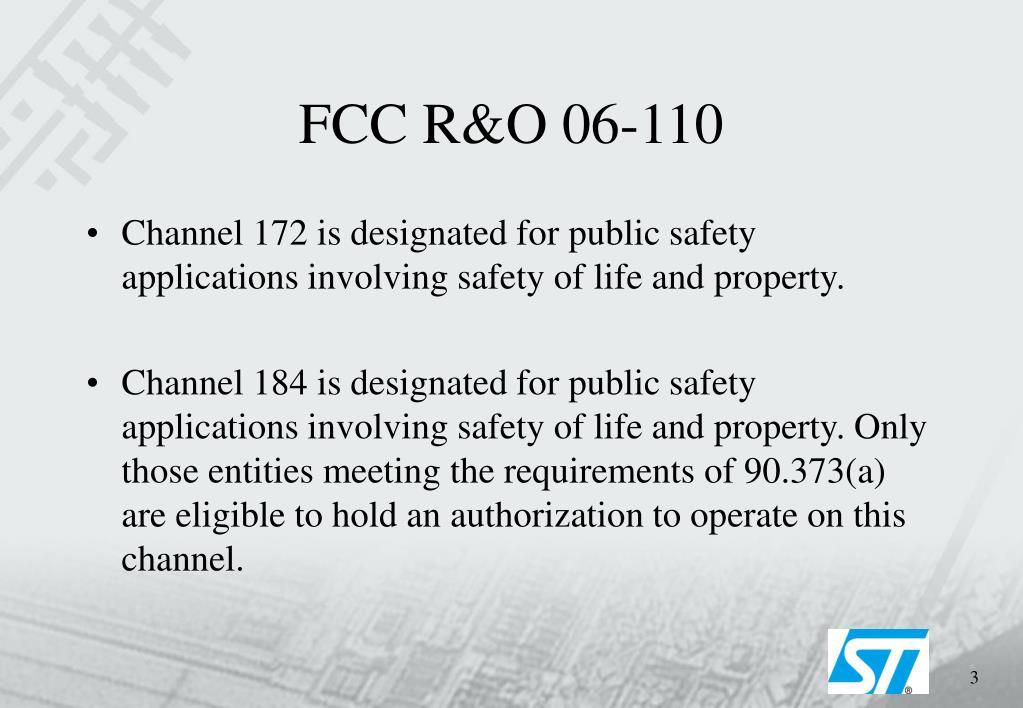 FCC R&O 06-110