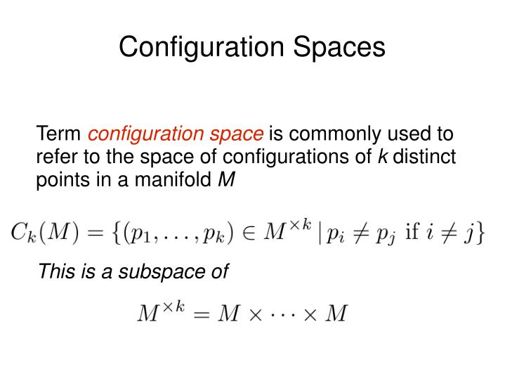 Configuration spaces