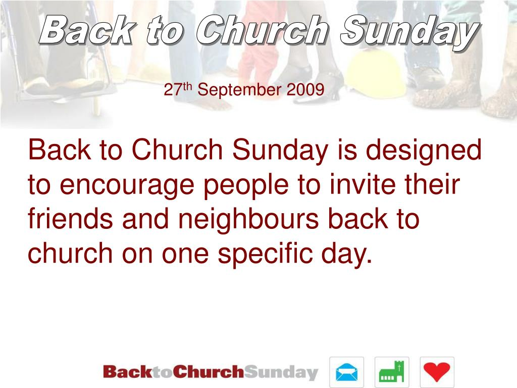 Back to Church Sunday