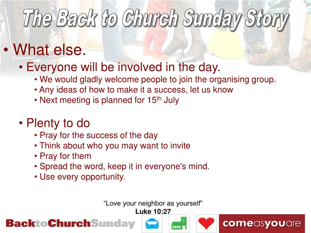 The Back to Church Sunday Story