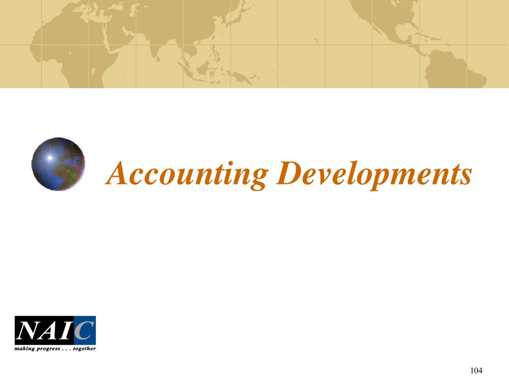 Accounting Developments