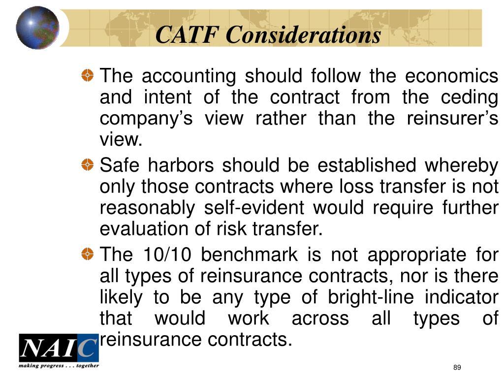 CATF Considerations