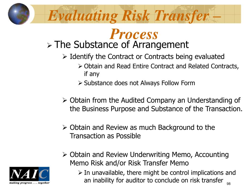Evaluating Risk Transfer – Process