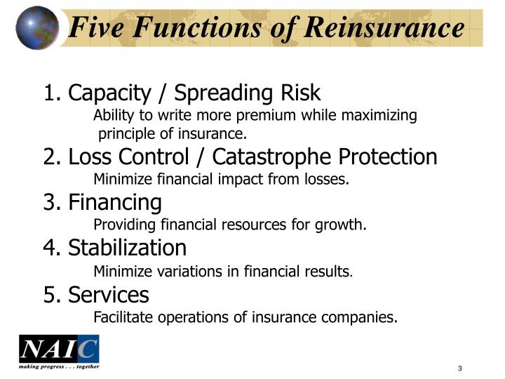 Five functions of reinsurance