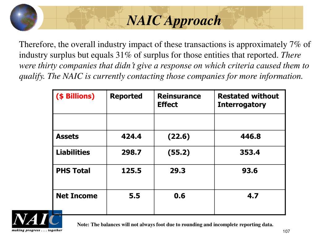NAIC Approach