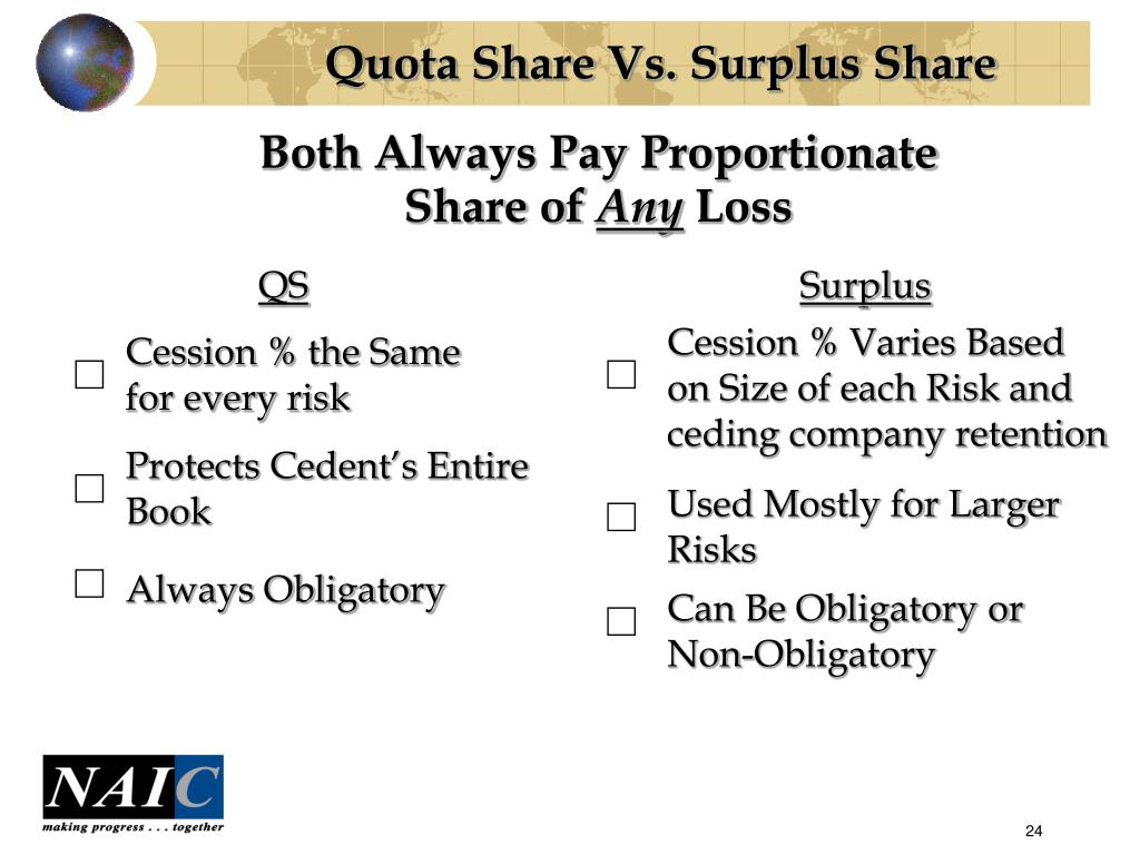 Quota Share Vs. Surplus Share