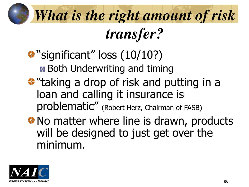 What is the right amount of risk transfer?