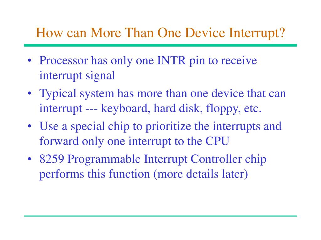 How can More Than One Device Interrupt?
