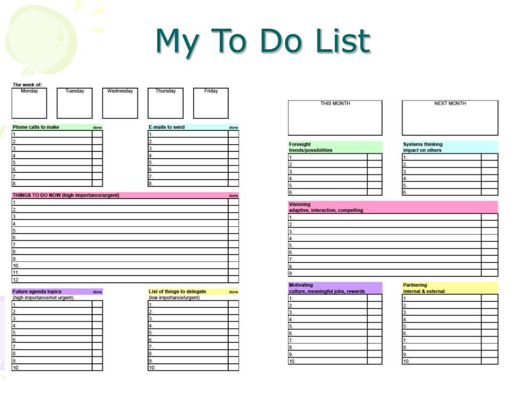 My To Do List
