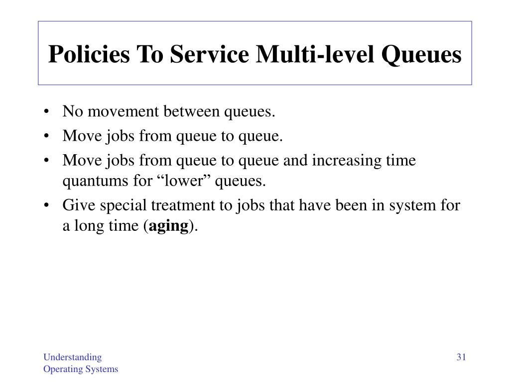 Policies To Service Multi-level Queues