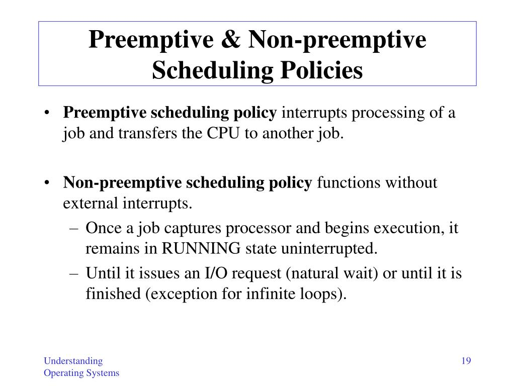 Preemptive & Non-preemptive Scheduling Policies