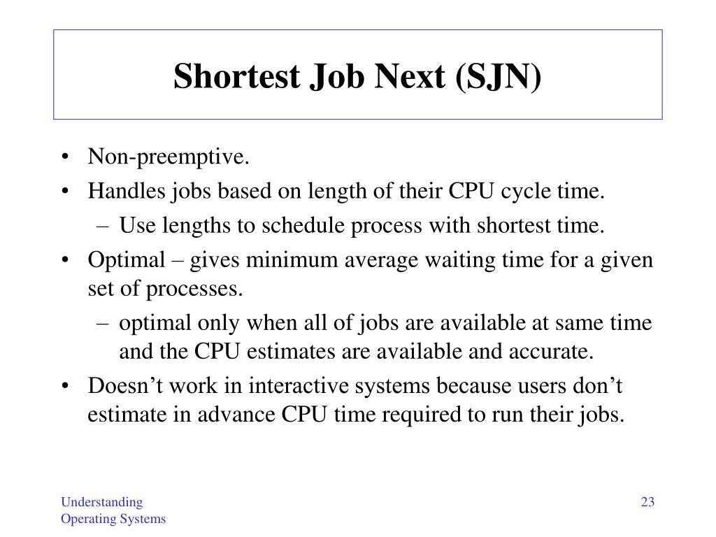Shortest Job Next (SJN)