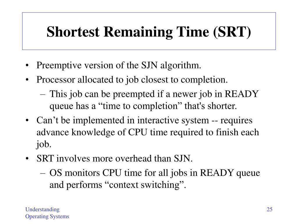 Shortest Remaining Time (SRT)