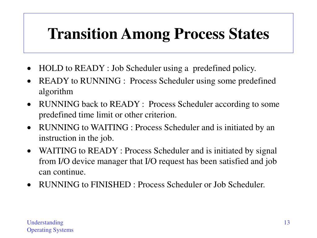 Transition Among Process States