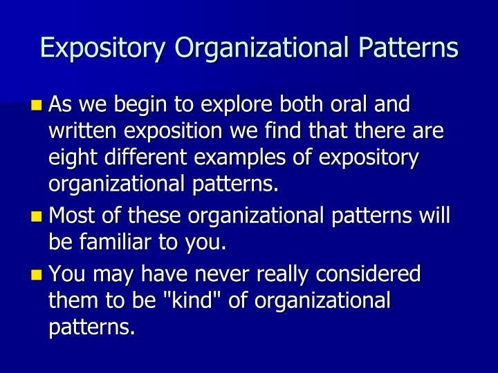 Expository Organizational Patterns