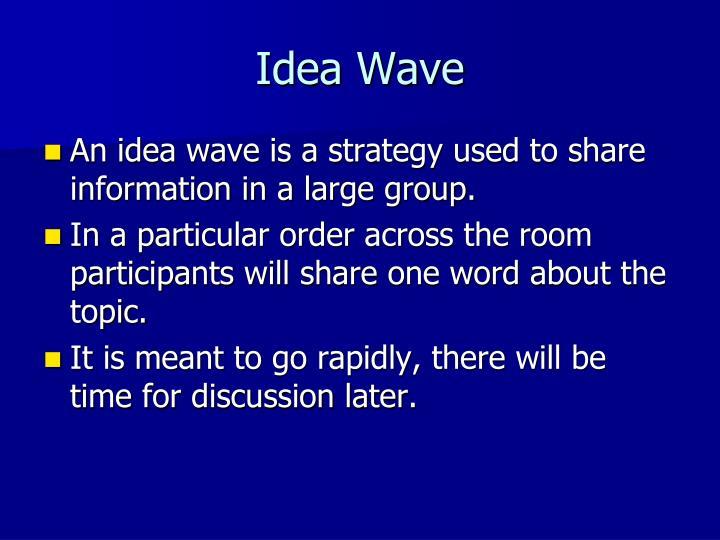 Idea Wave