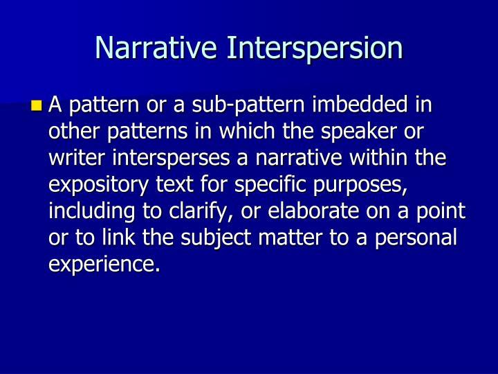 Narrative Interspersion