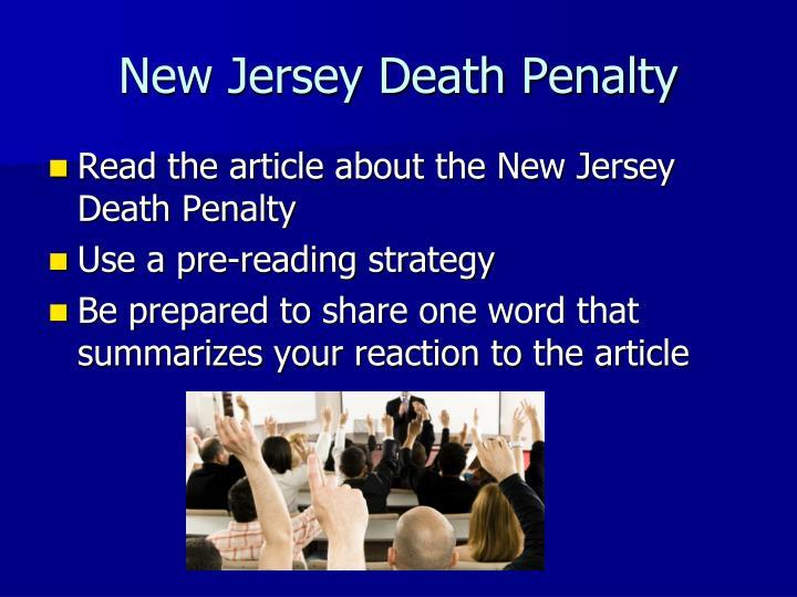New Jersey Death Penalty