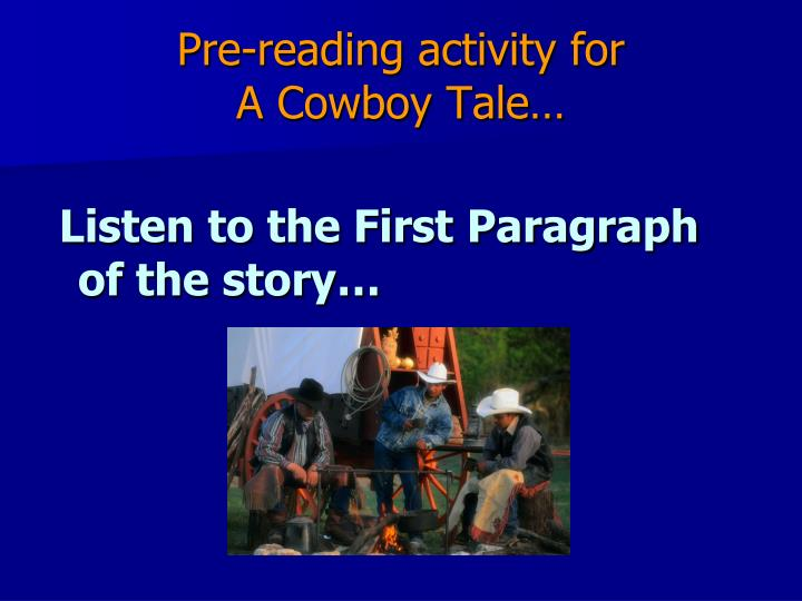 Pre-reading activity for