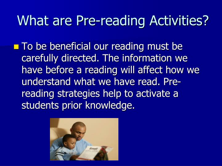 What are Pre-reading Activities?
