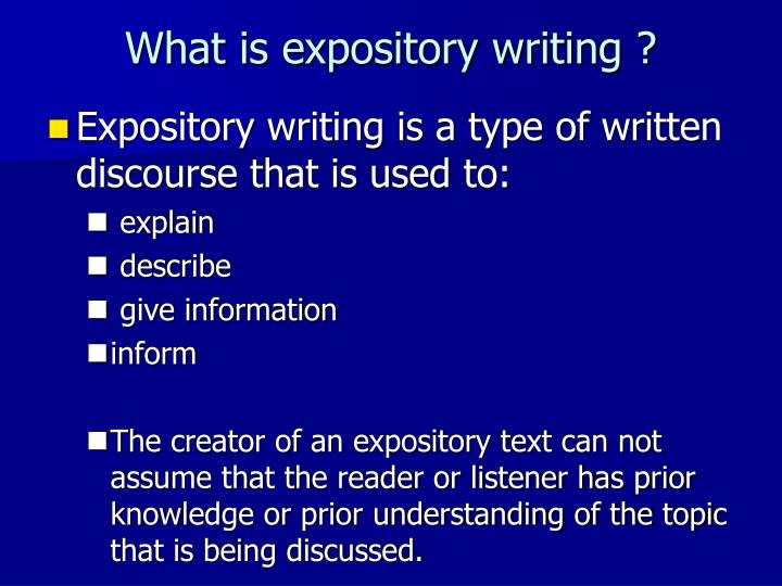 What is expository writing ?