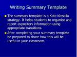 writing summary template